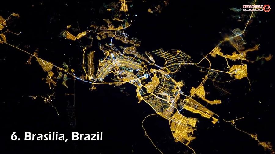 شبهای 50 شهر دنیا را از فضا ببینید