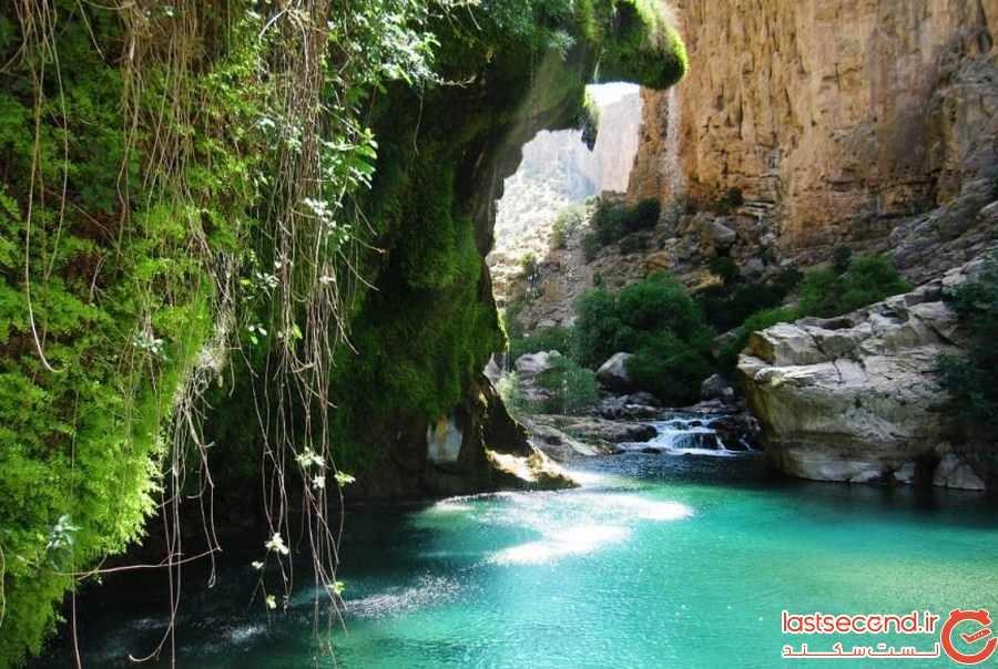 آبشار فدامی تجسم عینی زیبایی داراب