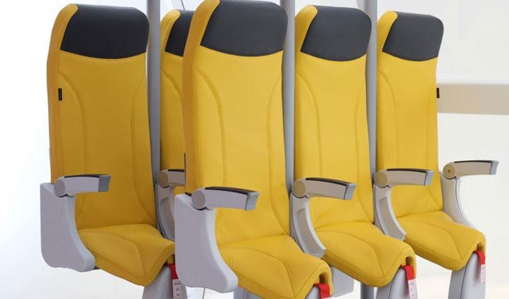 طراحی نوین صندلی های ایستاده در هواپیما