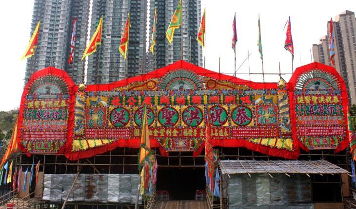 نحوه ی ساخت یک تئاتر بامبو در هنگ کنگ