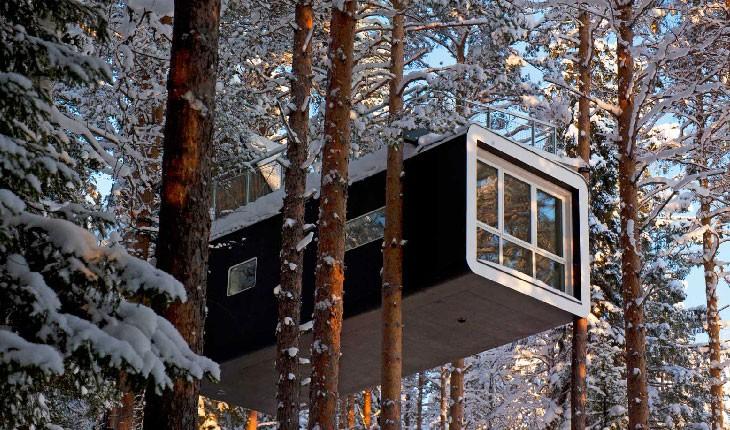 هتل درختی در Lapland سوئد