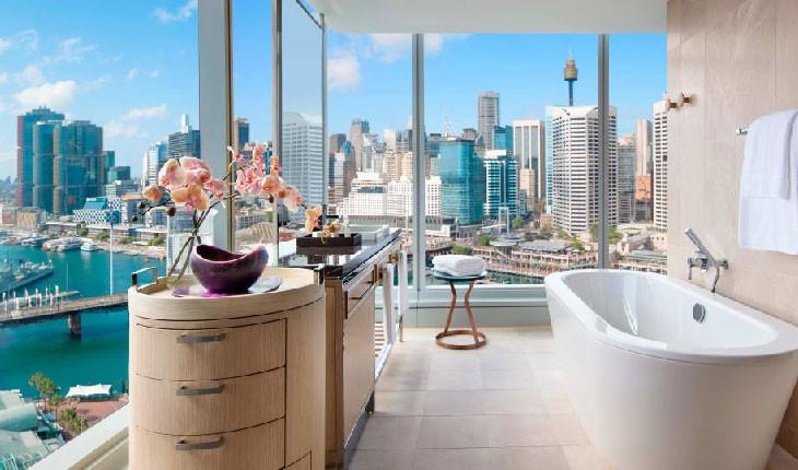 حمام این هتل ها برترین مناظر را دارند