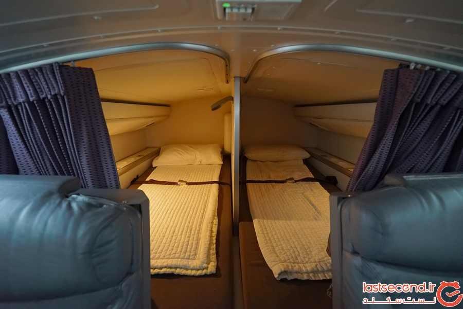 خلبانان و خدمه کابین در پروازهای طولانی کجا استراحت می کنند؟