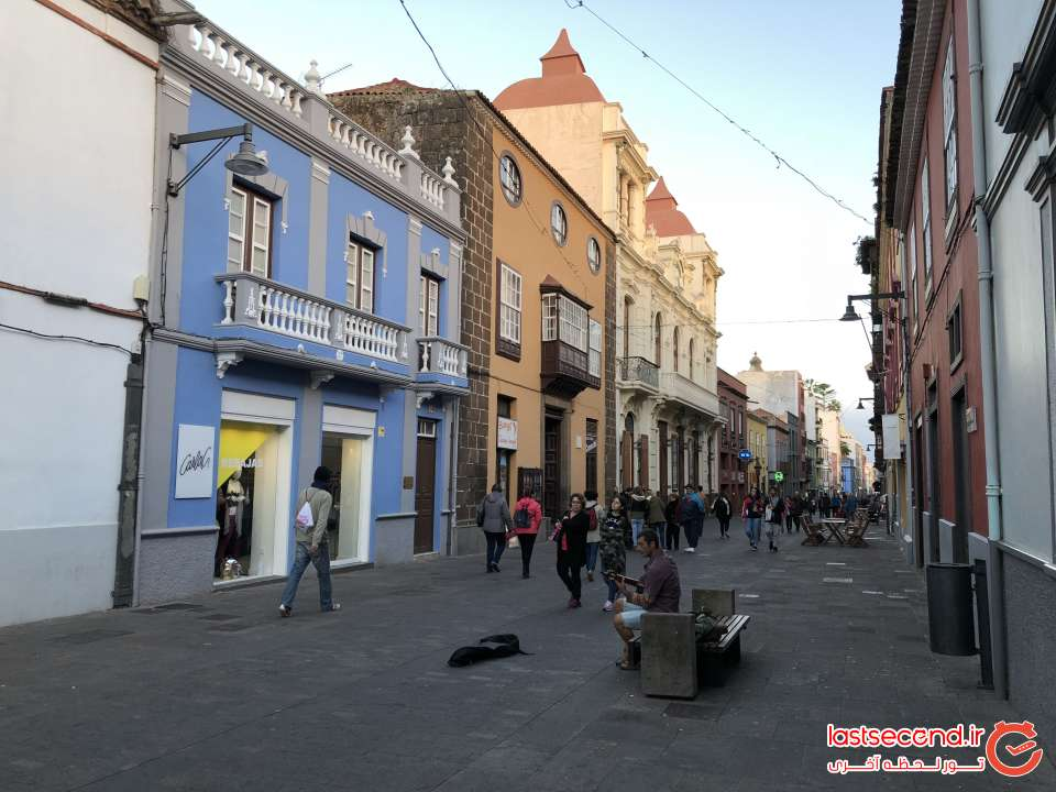 یکی از خیابانهای شهر La laguna