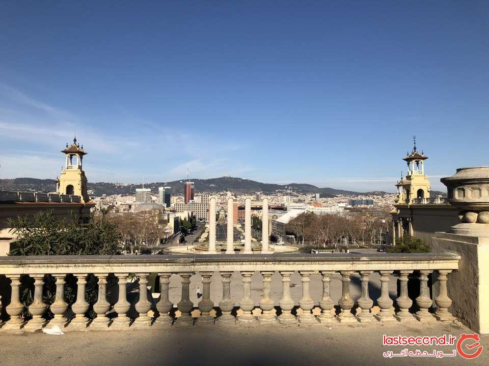 میدان اسپانیا از بالای پله های موزه کاتالونیا