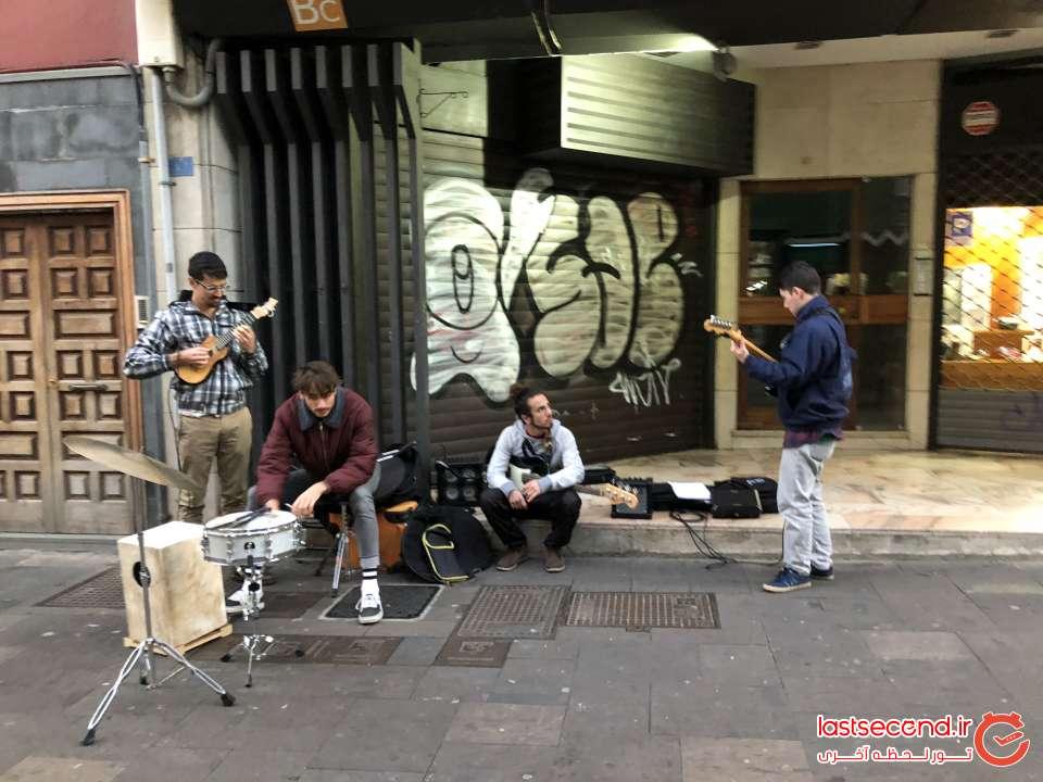 موسیقی خیابانی در شهر La laguna