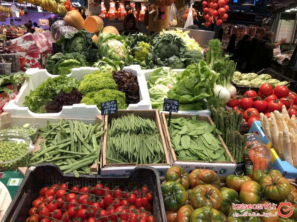 سبزیجات تازه میدان تره بار خیابان لارامبالا