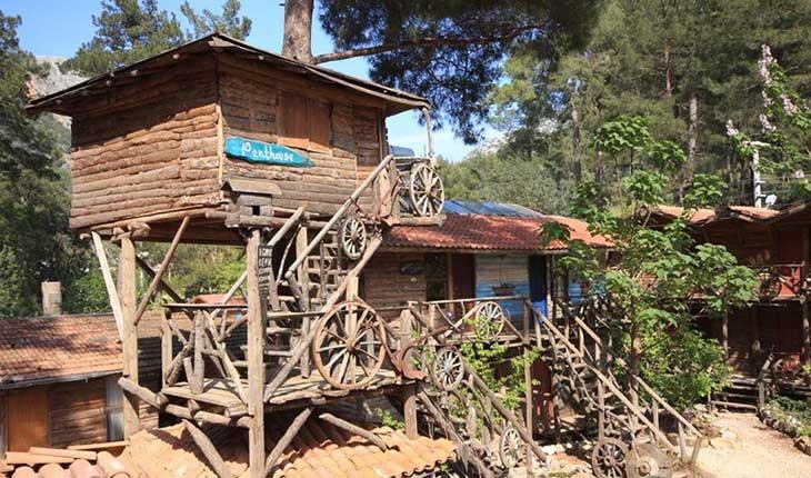 تجربه اقامت در خانه های درختی در ترکیه 