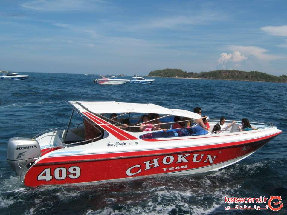 قایق سواری در پاتایا
