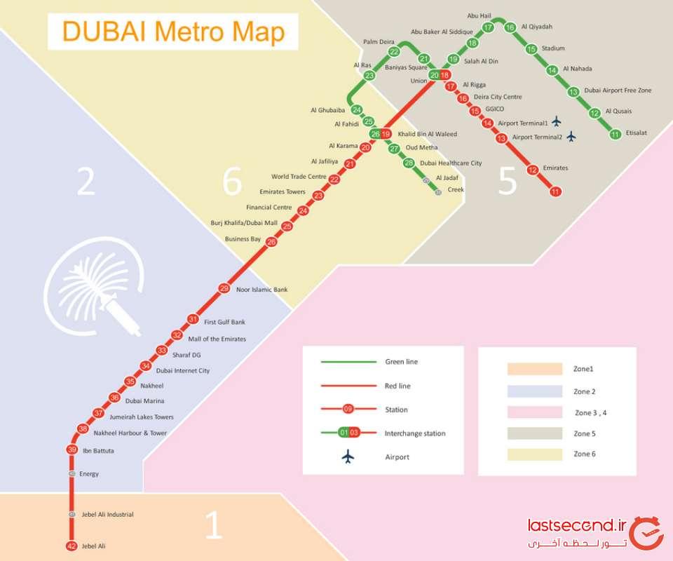 نقشه مترو دبی