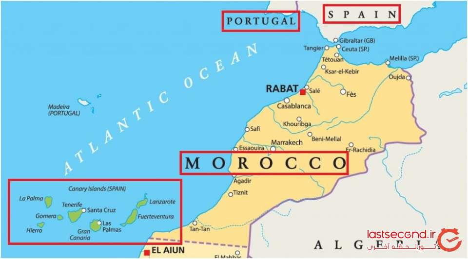 نقشه جزایر هفتگانه قناری