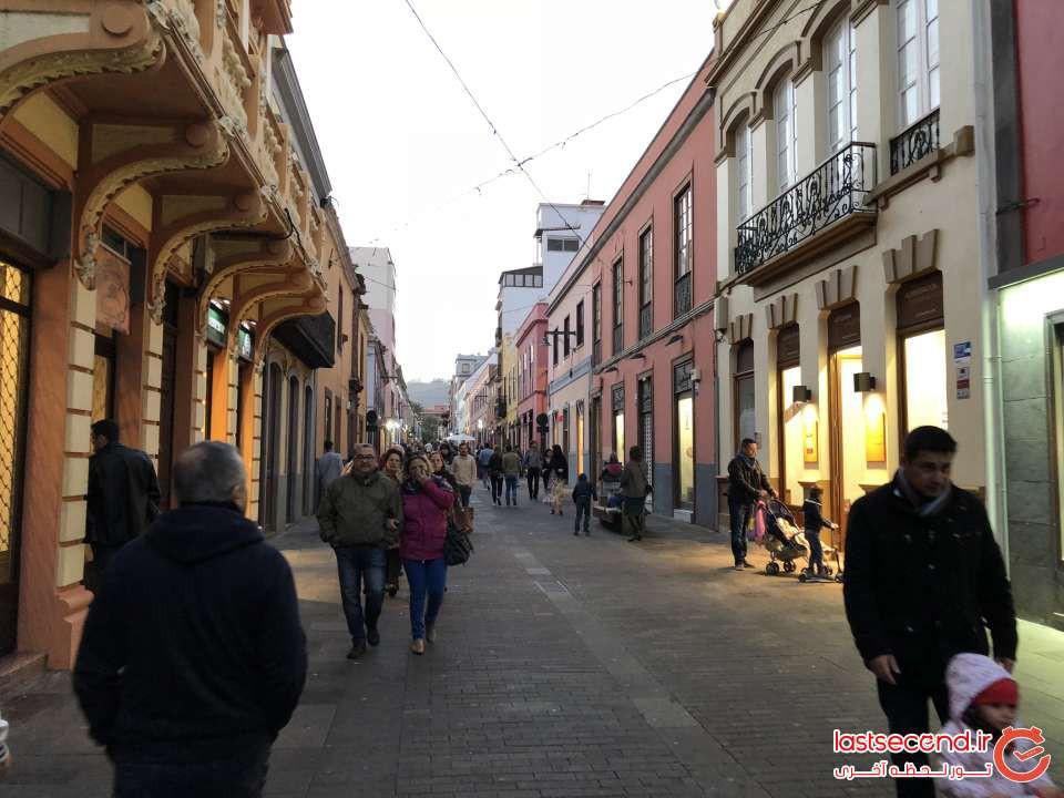 فروشگاه های 2 طرف خیابانی در شهر La laguna