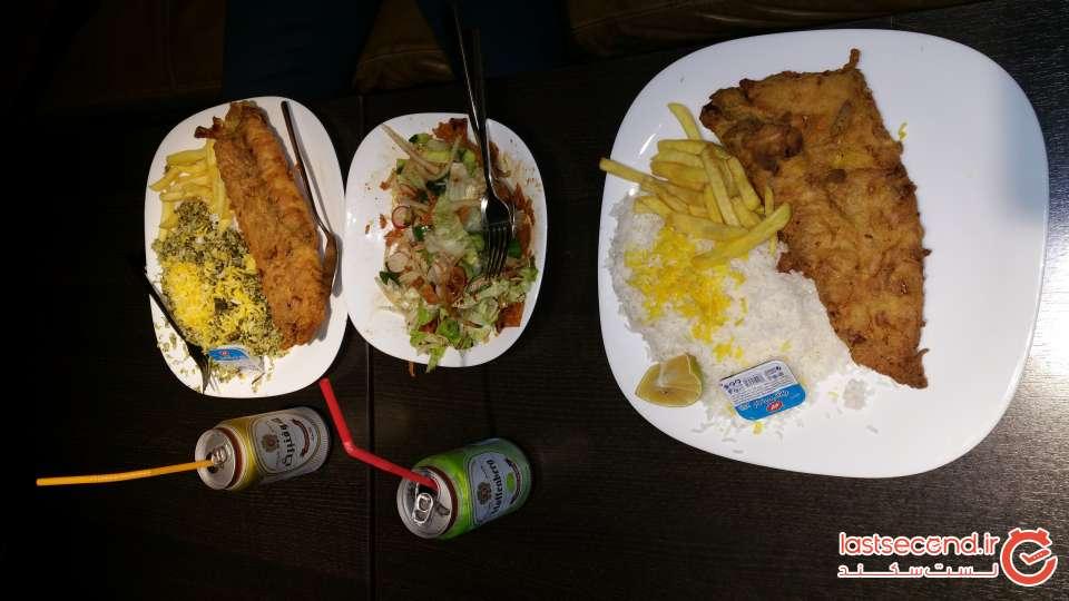 ماهی جایش در رستوران فودلند کیش