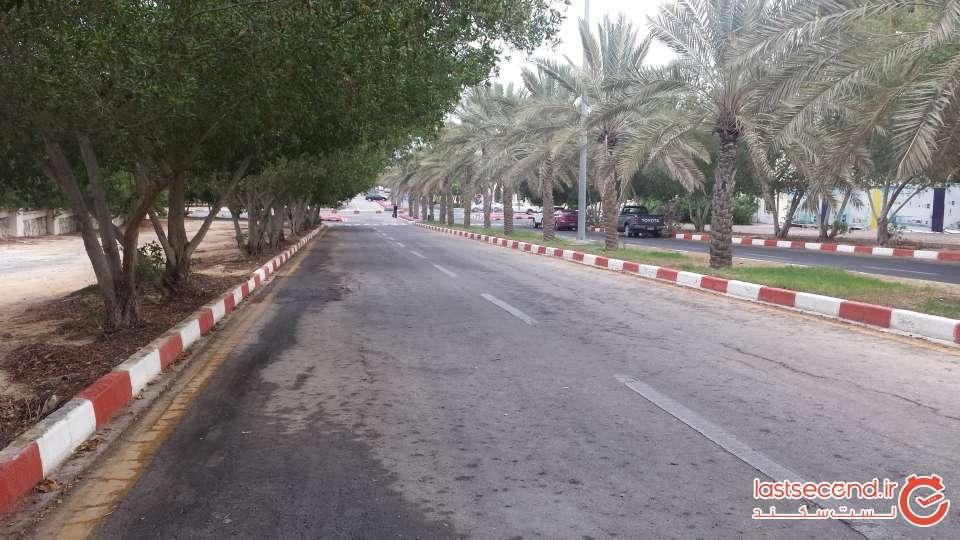 خیابان اطراف رستوران رویال وی آی پی برای پیاده روی