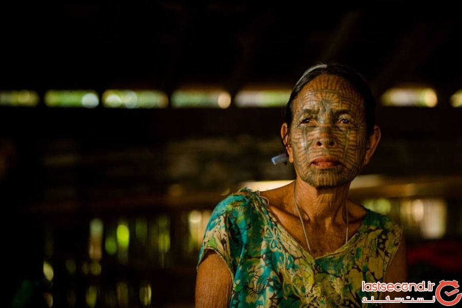 زنان خالکوبی شده در میانمار