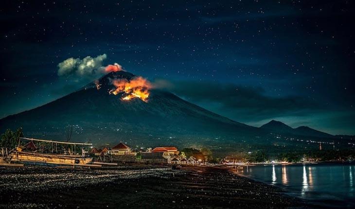 آتشفشان بالی فعال شد!
