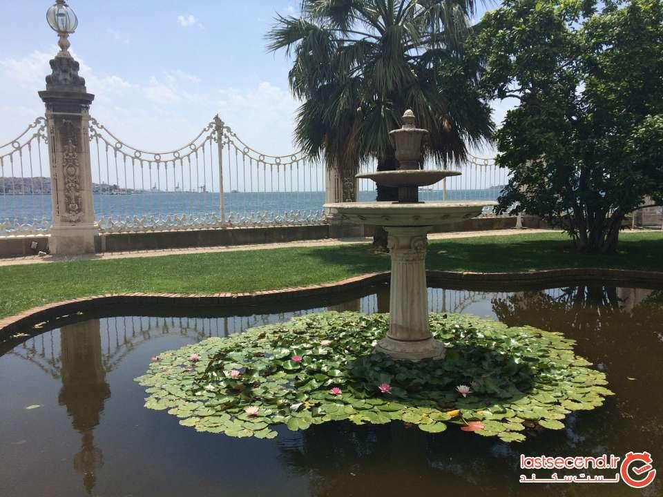 باغ اطراف کاخ دلما باهچه