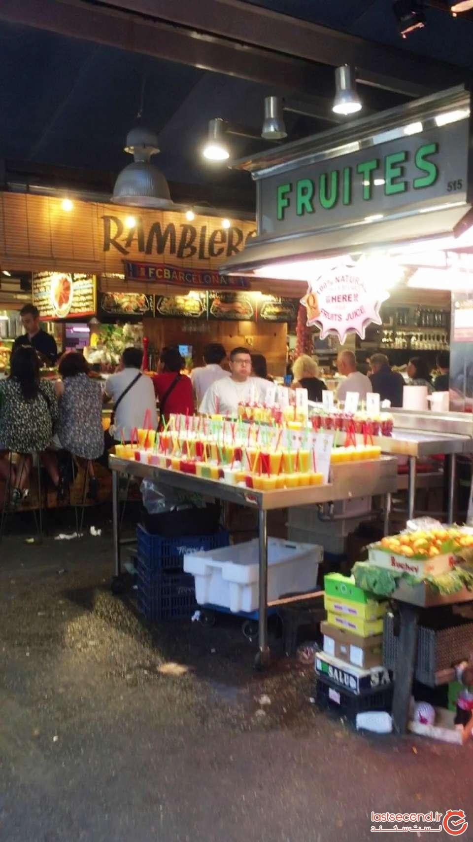 بازار روز در خیابان رامبلا بارسلونا