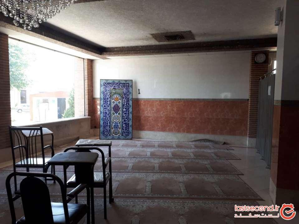 نمازخانه آفتاب درخشان صحرا بعداز قزوین