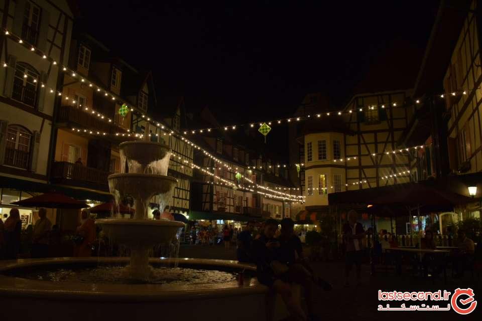 دهکده فرانسوی های کوآلالامپور در شب