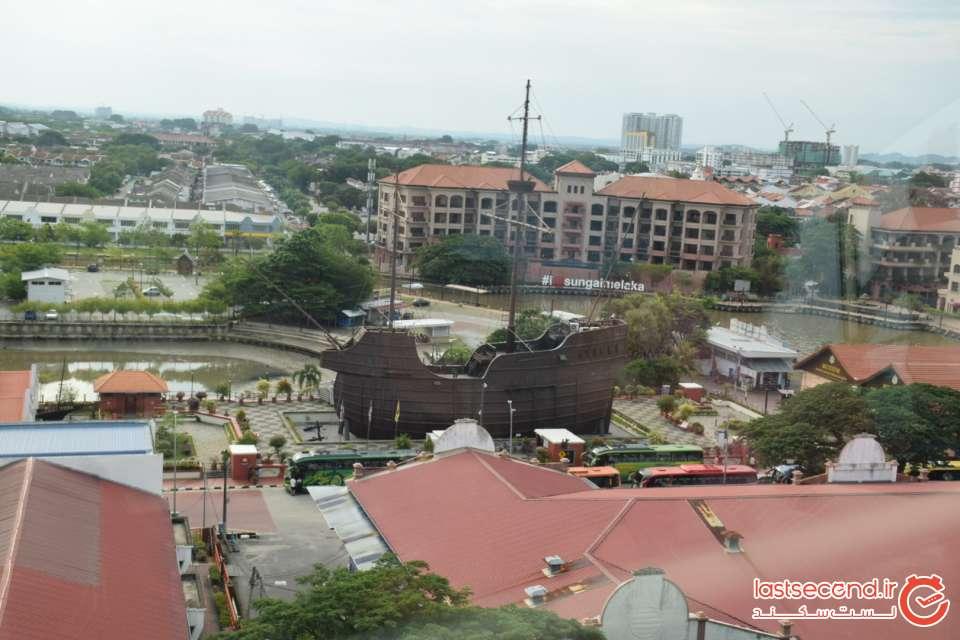 چشم انداز شهر ملاکا از داخل برج آسمانی
