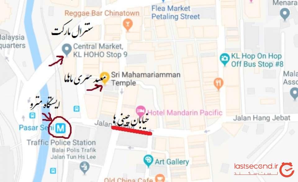 نقشه محله چینی ها