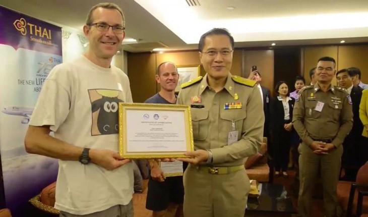 دولت تایلند از قهرمانان غواص انگلیسی تشکر کرد
