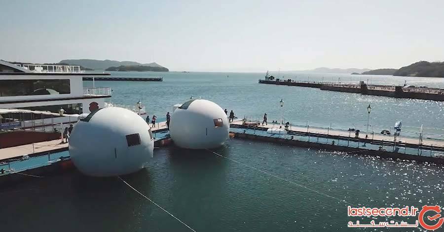 هتل های کپسولی شناور ژاپنی به بازار میآیند!