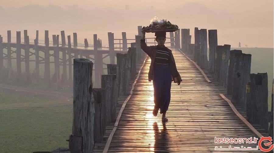 پل U Bein در میانمار