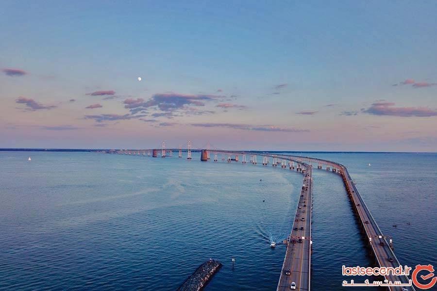 پل خلیج چساپیک در ایالت مریلند