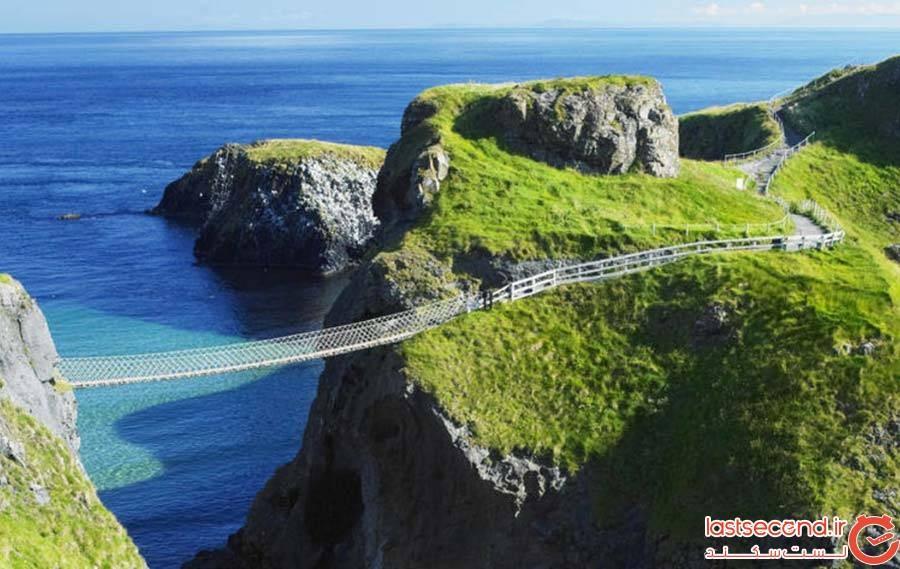 پل طنابی Carrick-a-Rede در شمال ایرلند