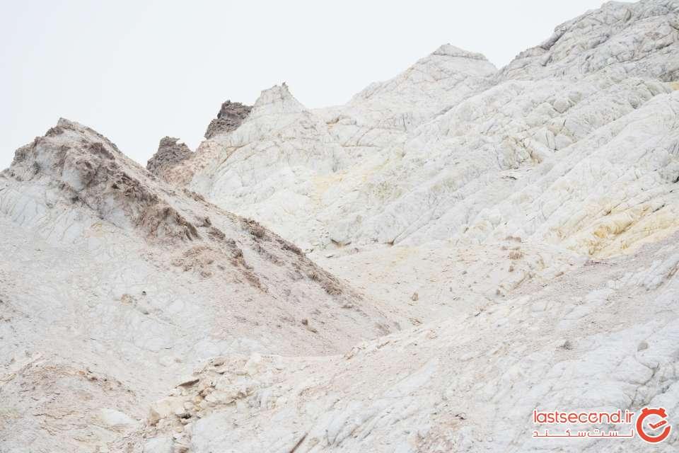 کوه های برفی جزیره هرمز
