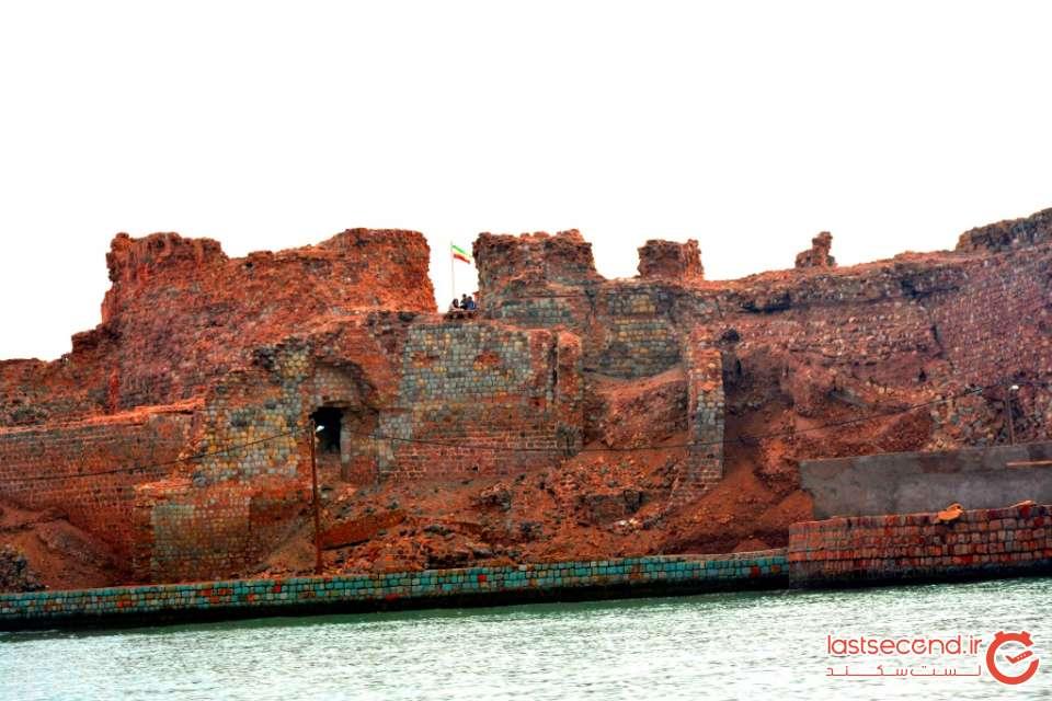 قلعه پرتغالی ها از درون قایق