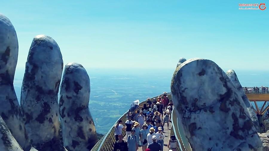 پل طلایی جاذبه جدید در ویتنام