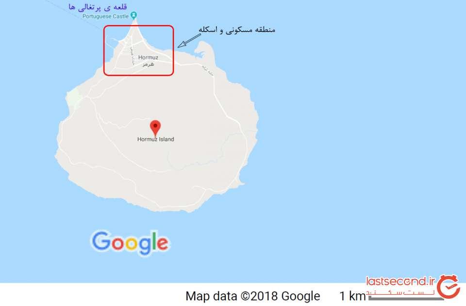 نقشه جزیره هرمز
