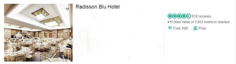 بهترین هتل های استانبول از نظر تریپ ادوایزر