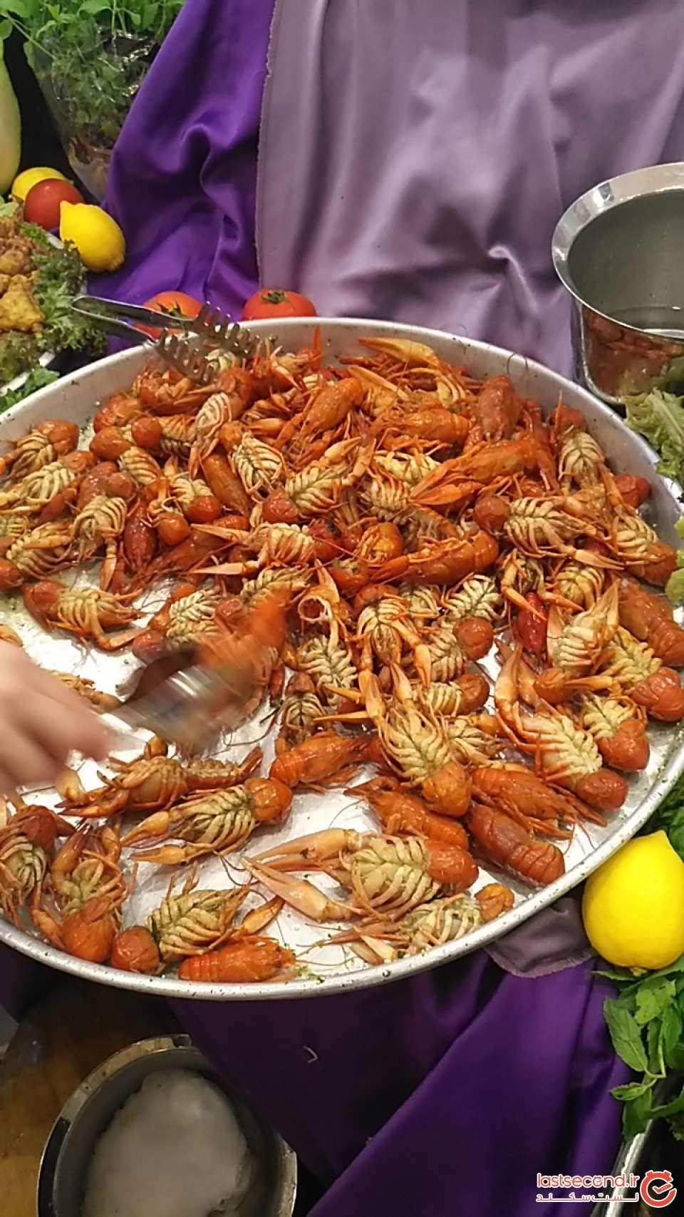 نمونه اي از غذاهاي دريايي هتل ارنج کانتی