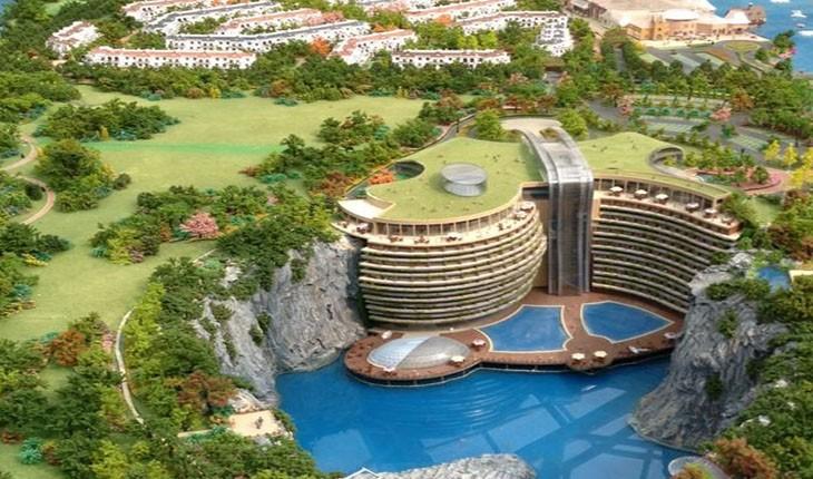 ساخت بزرگترین هتل دنیا در گودال