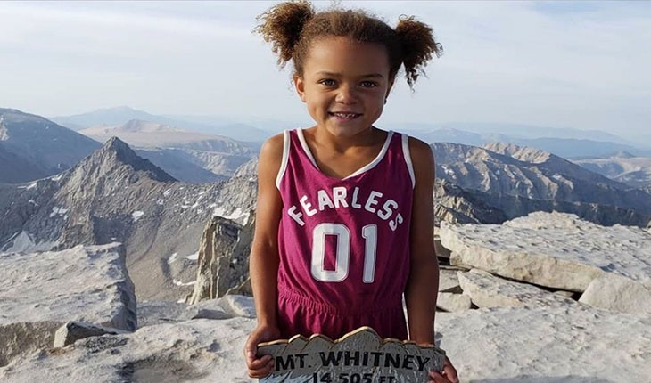 صعود دختربچه ی شش ساله به بلندترین قله ی ایالات متحده آمریکا