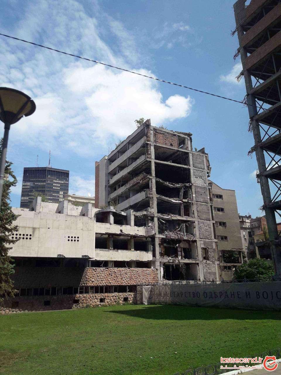 یادگار بمباران بلگراد توسط ناتو