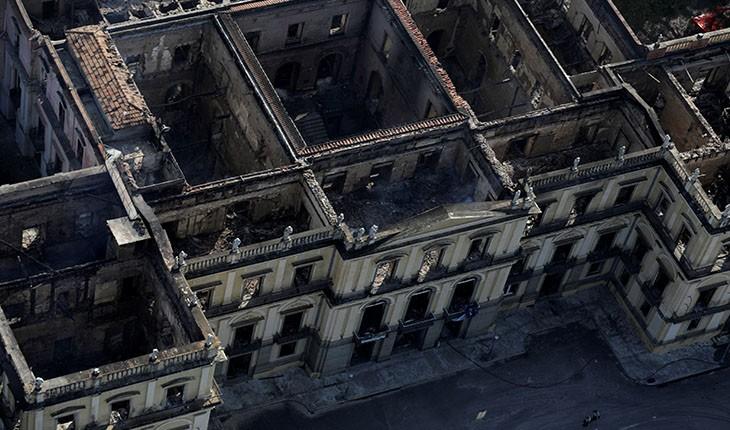 وضعیت موزهی ملی برزیل پس از آتش سوزی