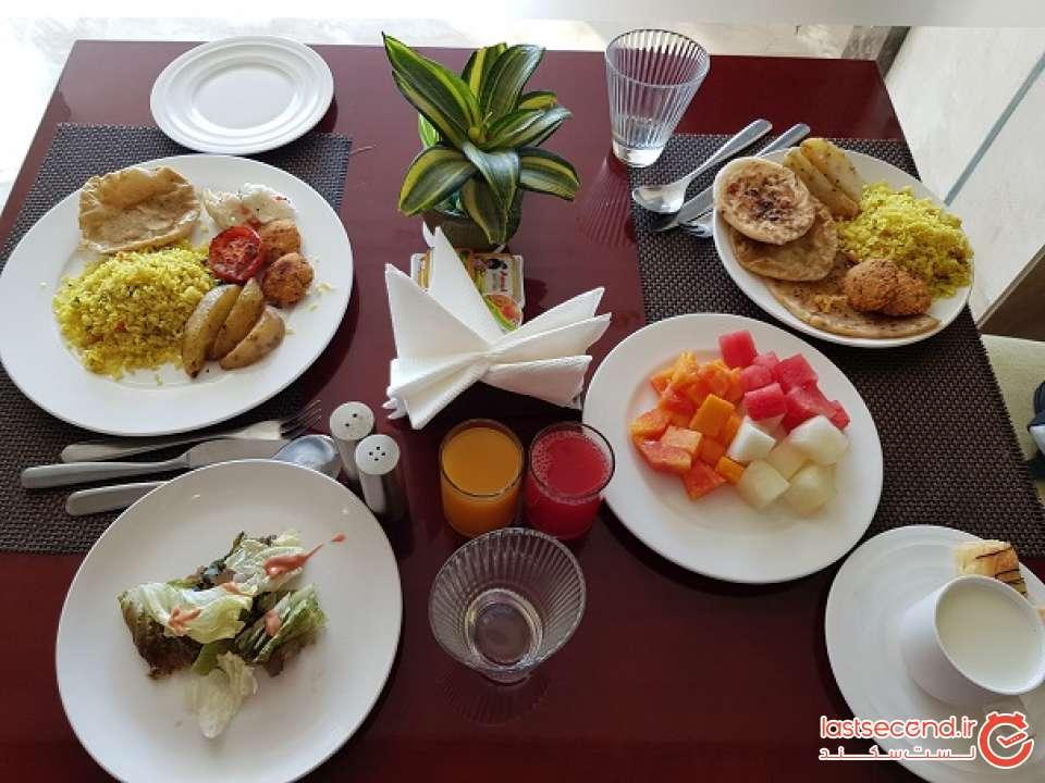صبحانه هتل golden tulip