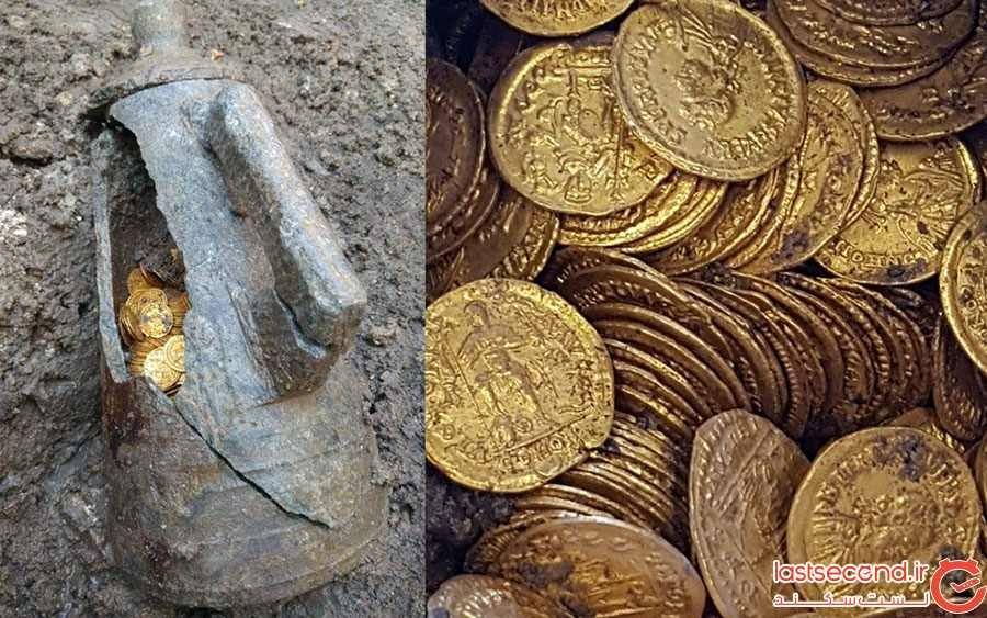 کشف صدها سکه طلا هنگام گود برداری در شمال ایتالیا