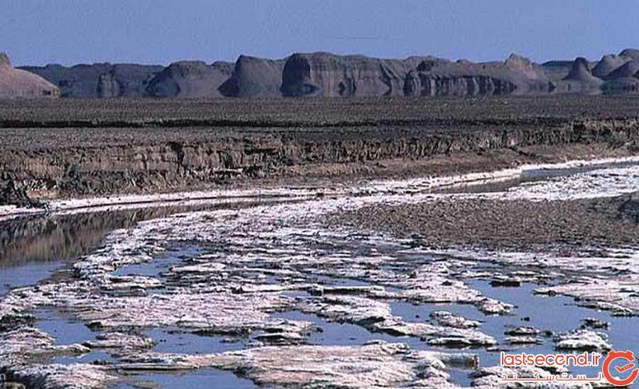 رود شور در کویر لوت