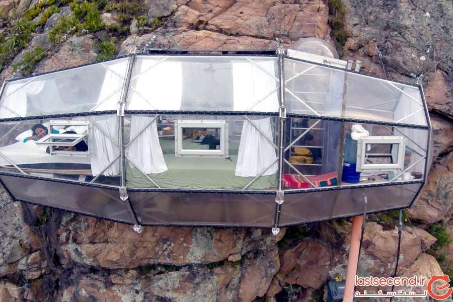 هتل صخره ای Skylodge Adventure Suites