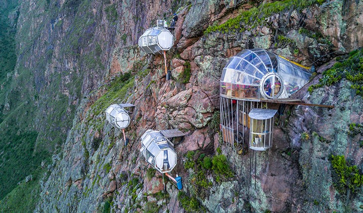 این هتل عجیب مخصوص صخره نوردان است