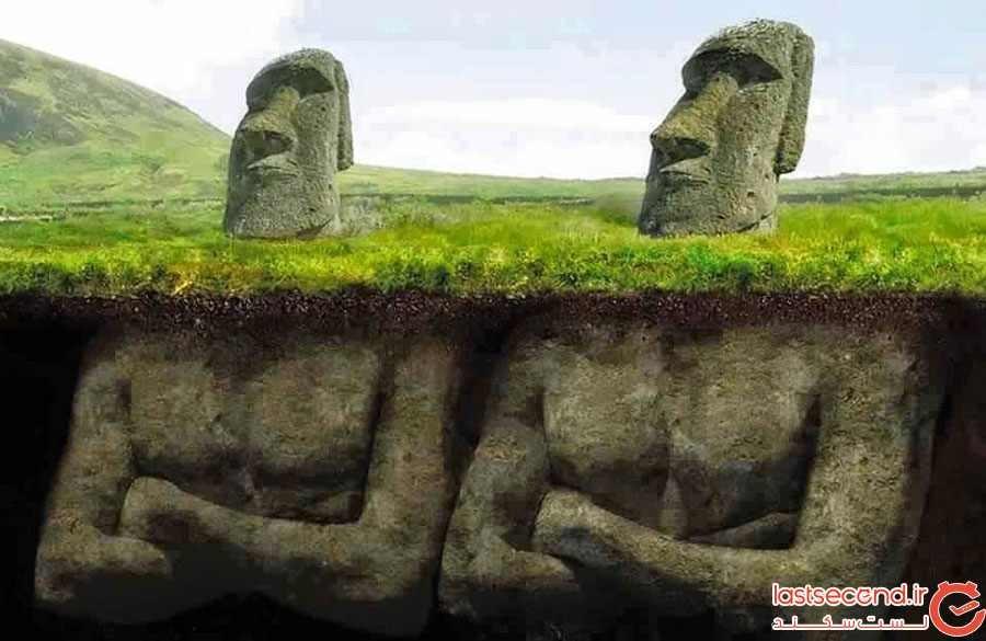 مجسمههای سر معروف شیلی