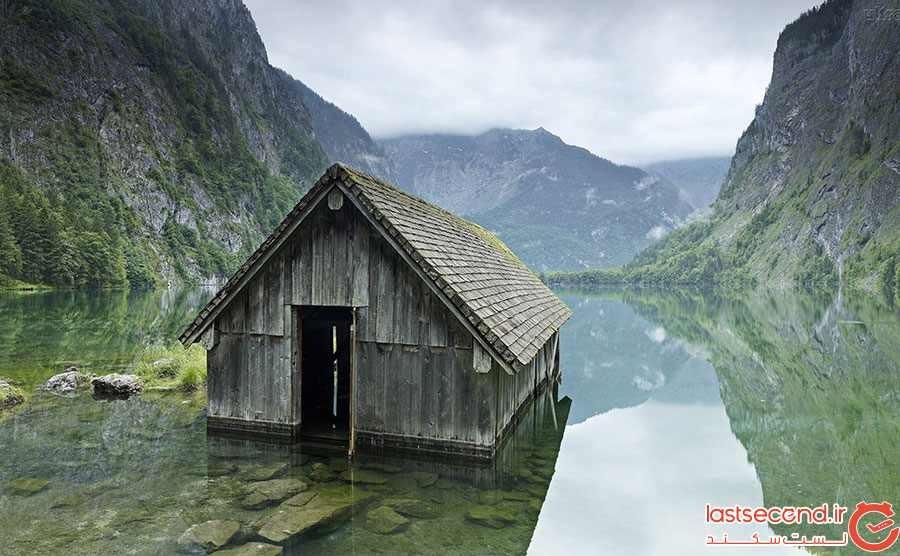 کلبه ماهیگیری متروکه در آلمان