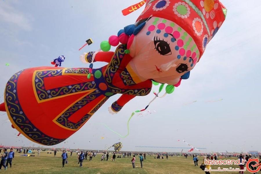 فستیوال بین المللی بادبادک ها در چین