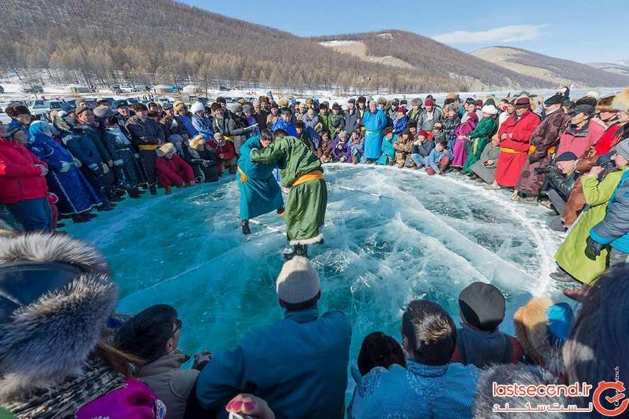 فستیوال یخ در مغولستان
